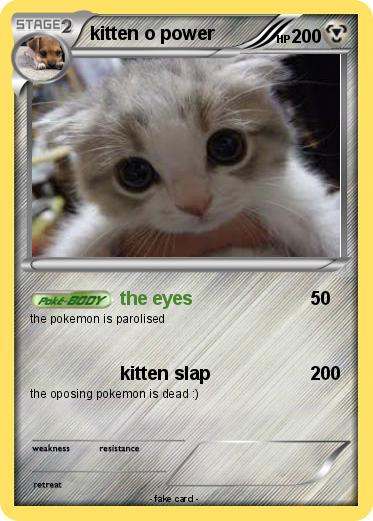 Pokemon kitten o power