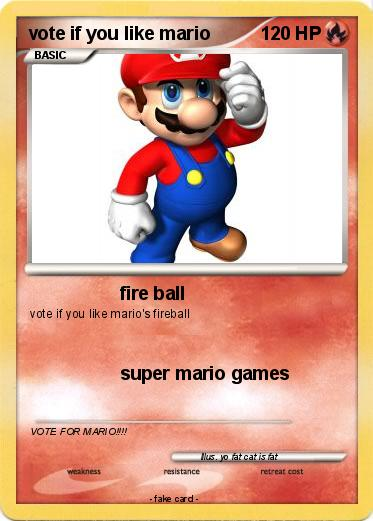 Pokemon vote if you like mario