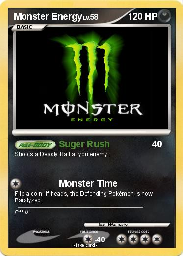 Pokemon Monster Energy