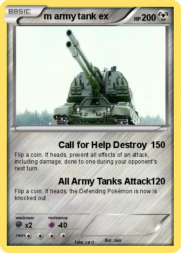 Pokemon m army tank ex