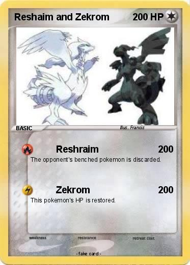 Pokemon Reshaim and Zekrom