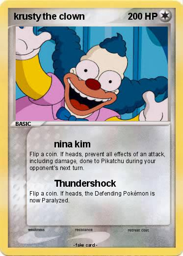 Pokemon krusty the clown