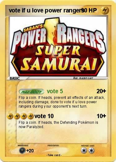 Pokemon vote if u love power rangers