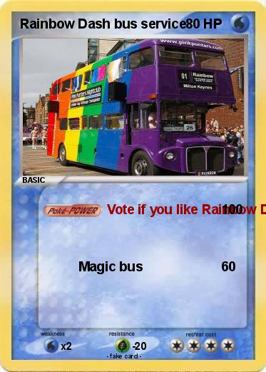 Pokemon Rainbow Dash bus service