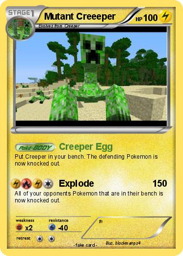 Pokemon Mutant Creeeper