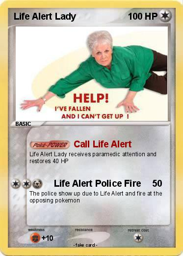 Pokemon Life Alert Lady