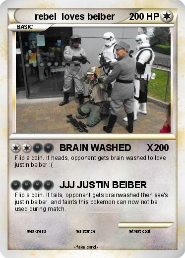 Pokemon rebel  loves beiber