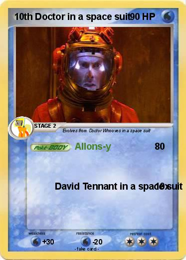 Pokemon 10th Doctor in a space suit