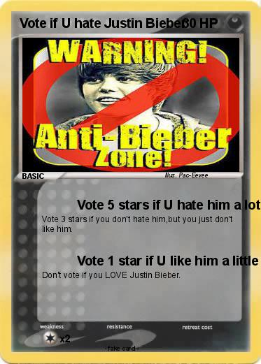 Pokemon Vote if U hate Justin Bieber