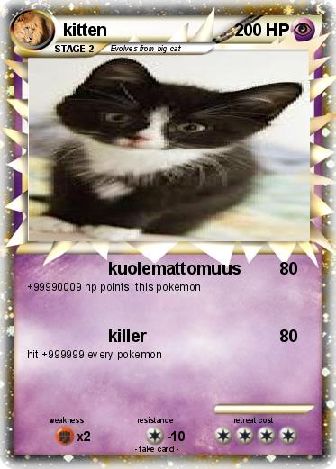 Pokemon kitten
