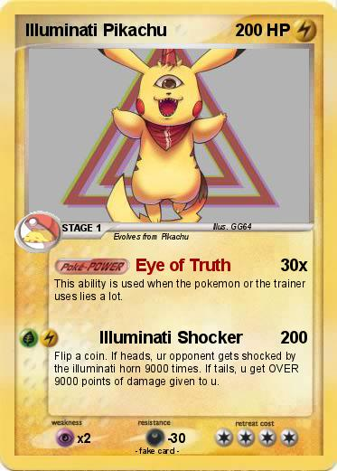 Pokemon Illuminati Pikachu