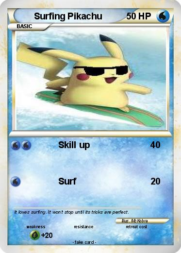 Pokemon Surfing Pikachu