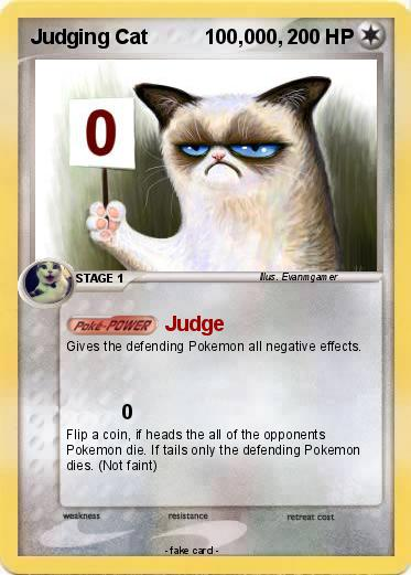 Pokemon Judging Cat          100,000,