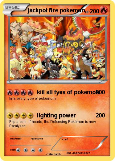 Pokemon jackpot fire pokemon
