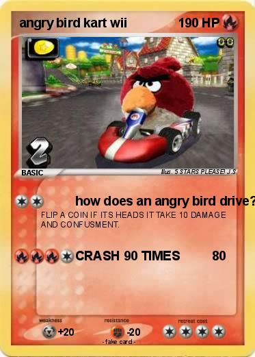 Pokemon angry bird kart wii