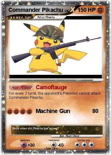 Pokemon Commander Pikachu