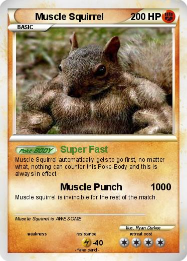 Pokemon Muscle Squirrel