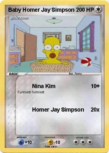 Pokemon Baby Homer Jay Simpson