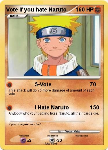 Pokemon Vote if you hate Naruto