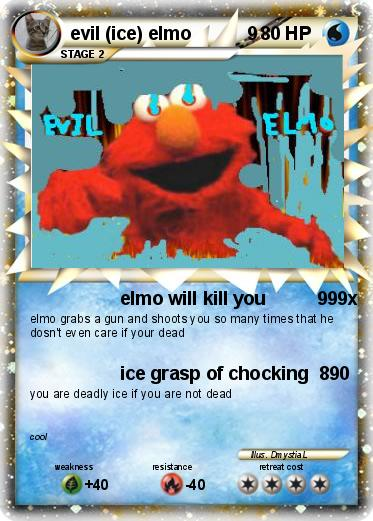 Pokemon evil (ice) elmo           9