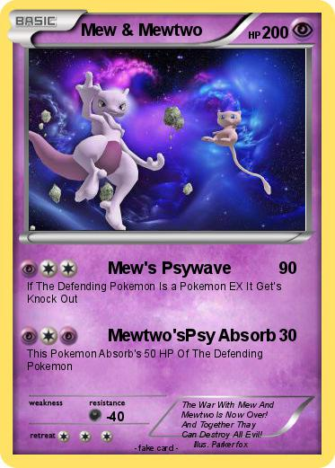 Pokemon Mew & Mewtwo