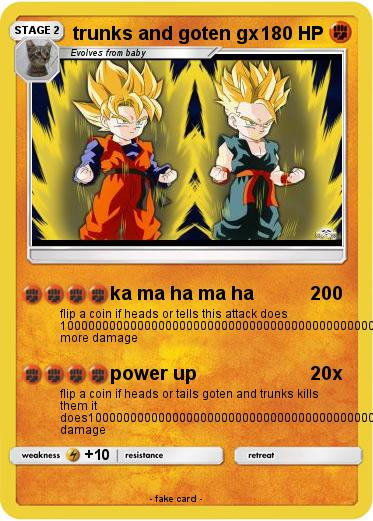 Pokemon trunks and goten gx