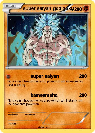 Pokemon super saiyan god goku