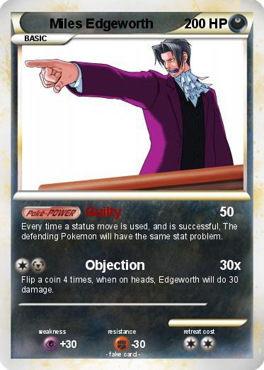 Pokemon Miles Edgeworth