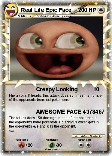 Pokemon Real Life Epic Face