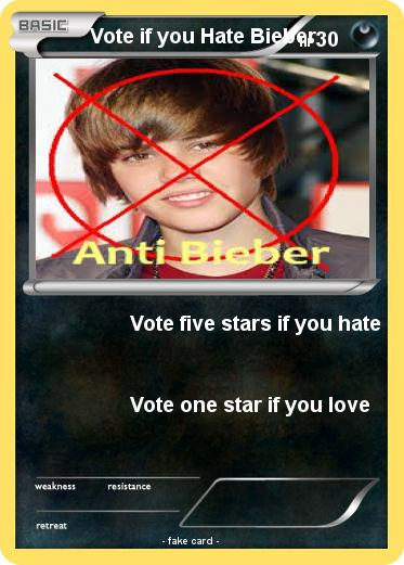 Pokemon Vote if you Hate Bieber