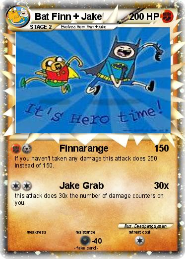 Pokemon Bat Finn + Jake