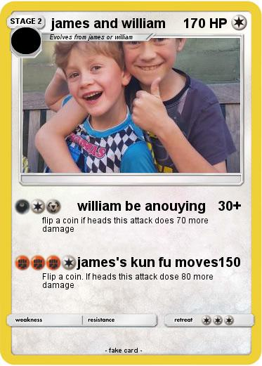 Pokemon james and william
