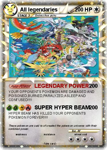 Pokemon All legendaries