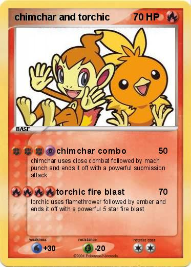 Pokemon chimchar and torchic