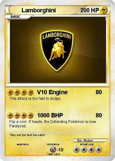 Pokemon Lamborghini