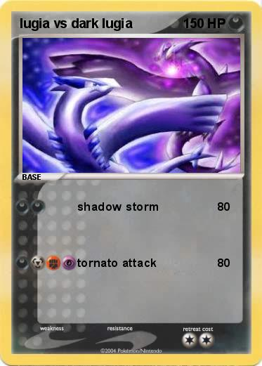 Pokemon lugia vs dark lugia