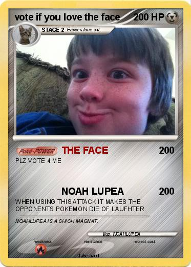 Pokemon vote if you love the face