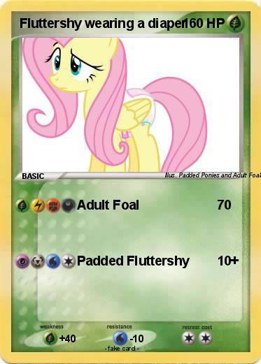 Pokemon Fluttershy wearing a diaper