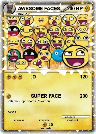Pokemon AWESOME FACES