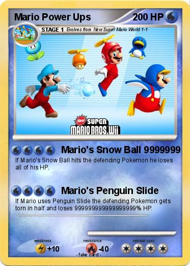 Pokemon Mario Power Ups