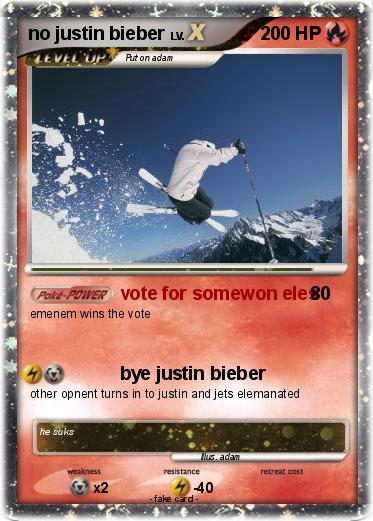 Pokemon no justin bieber