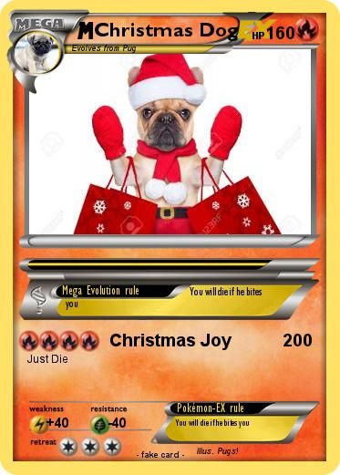 Pokemon Christmas Dog