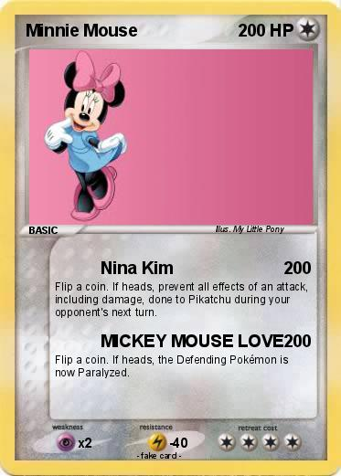 Pokemon Minnie Mouse