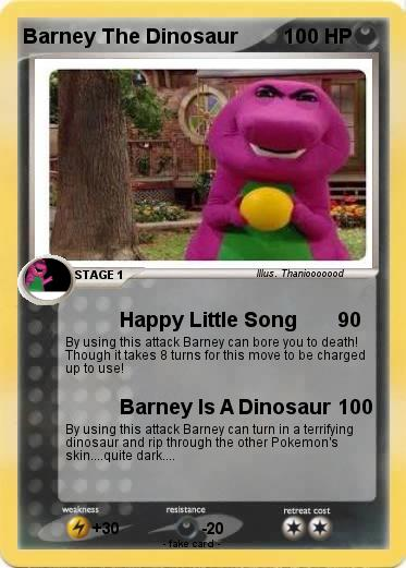 Pokemon Barney The Dinosaur