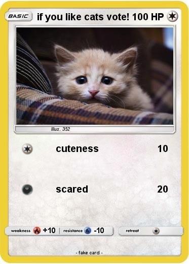 Pokemon if you like cats vote!