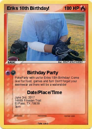 Pokemon Eriks 10th Birthday!