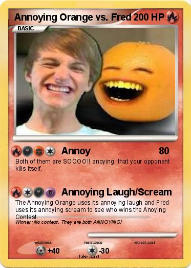 Pokemon Annoying Orange vs. Fred