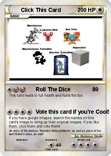 Pokemon Click This Card