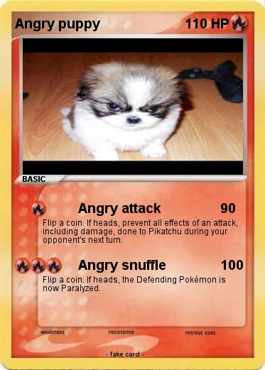 Pokemon Angry puppy
