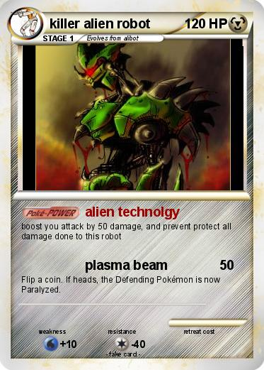 Pokemon killer alien robot